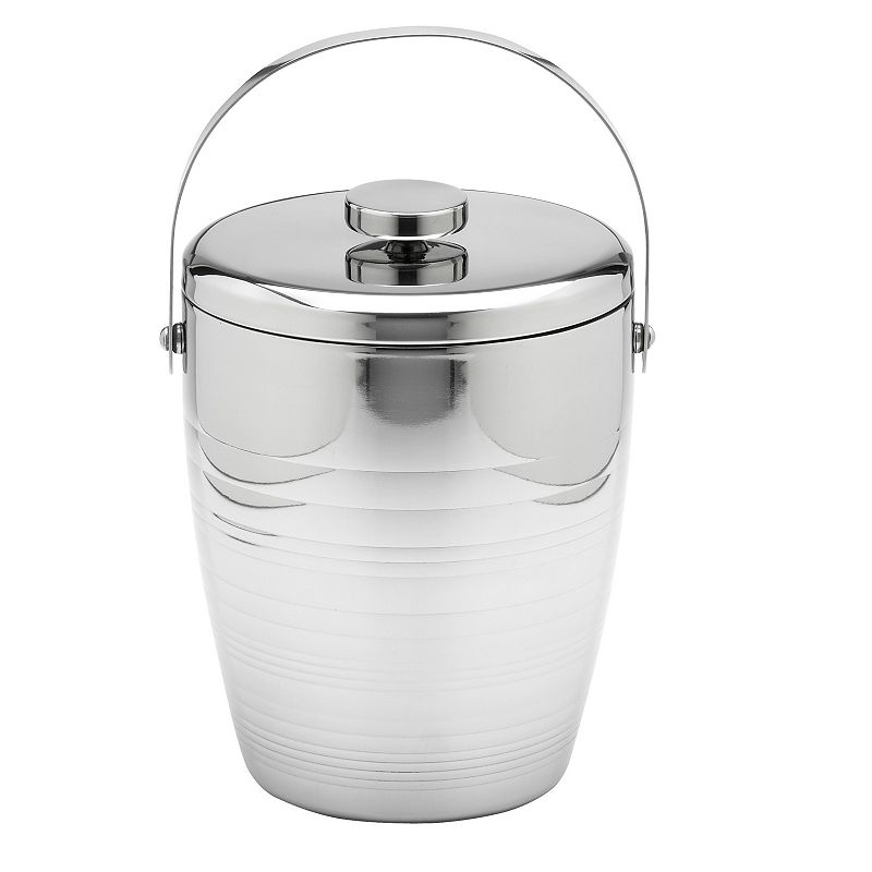 Groove Stainless Steel 4-qt. Ice Bucket