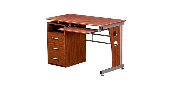 Techni mobili 3 drawer computer desk for Web mobili outlet