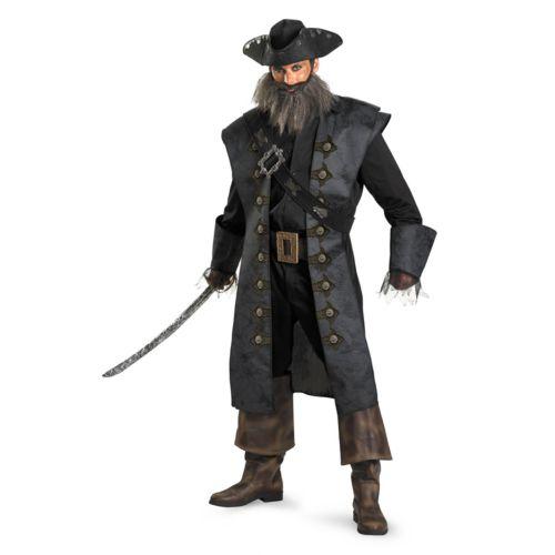 Disney Pirates of the Caribbean 4: On Stranger Tides Blackbeard Deluxe Costume - Adult