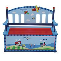 Levels of Discovery Gettin Around Storage Bench with Storage - Blue
