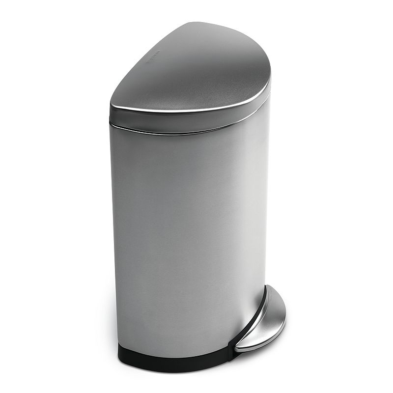 simplehuman 10 1/2-Gallon Semi-Round Step Trash Can