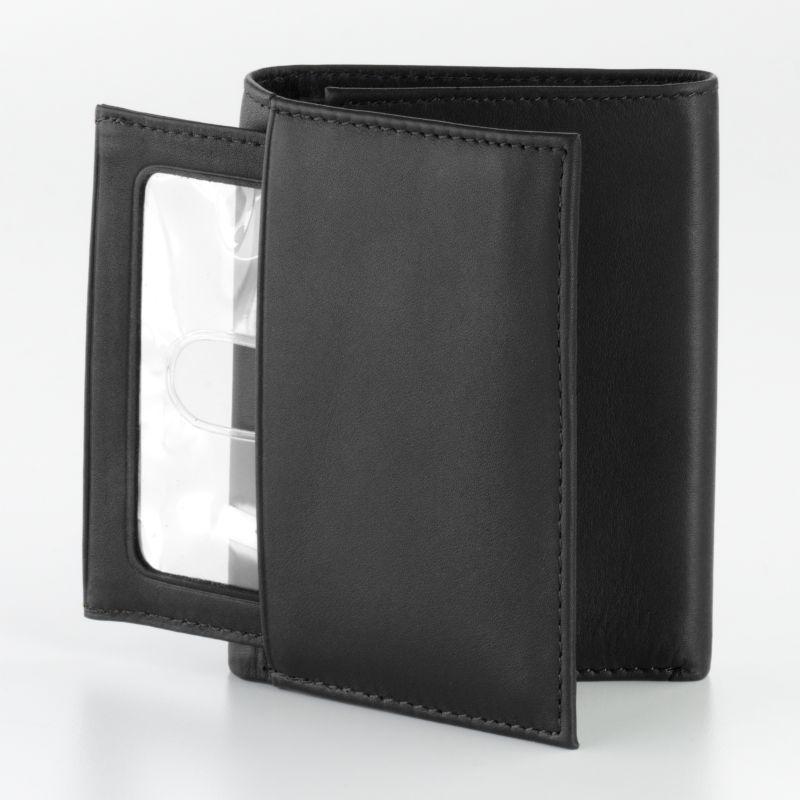 Dopp Leather Trifold Wallet, Men's, Black thumbnail