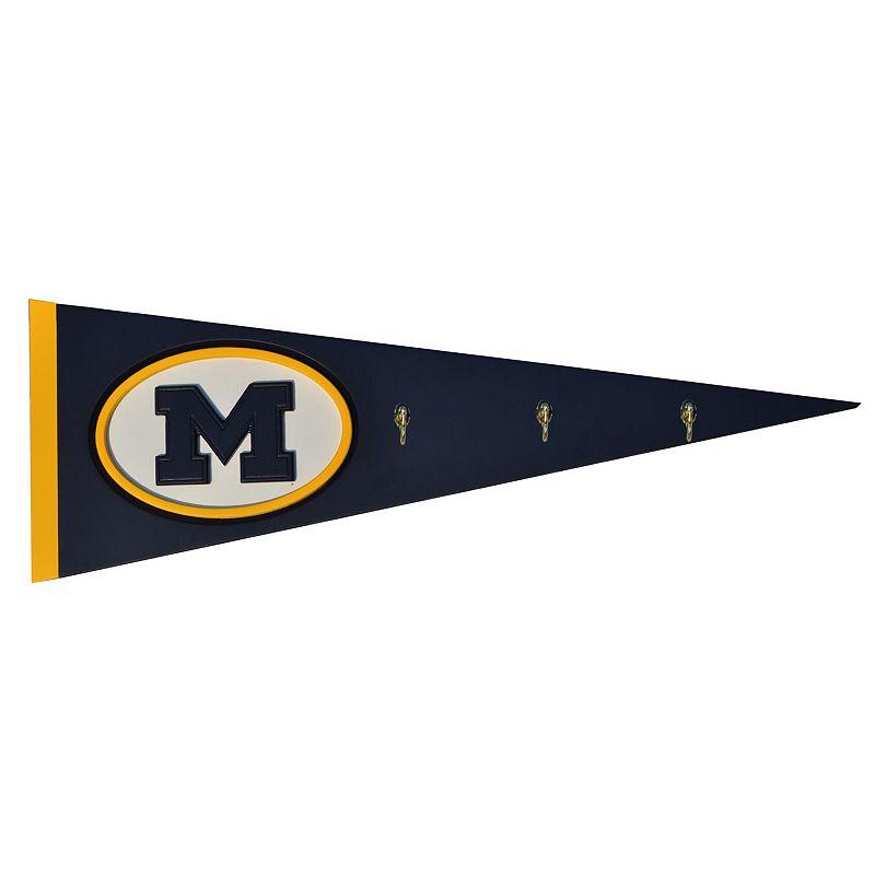 Michigan Wolverines Pennant Coat Rack