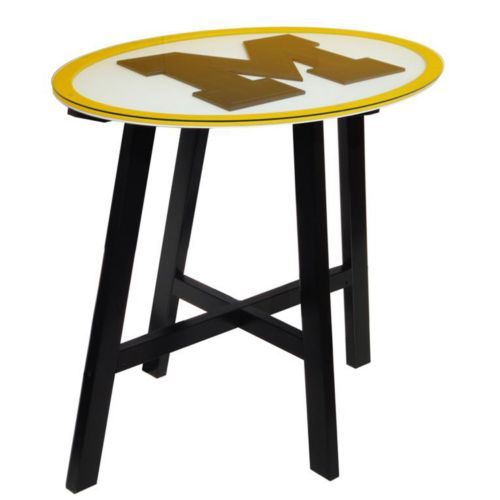 Michigan Wolverines Wooden Pub Table