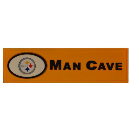 Pittsburgh Steelers Wooden Man Cave Sign