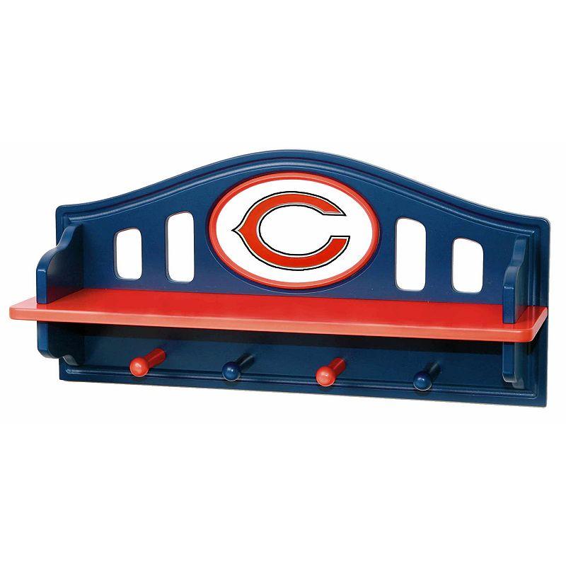 Chicago Bears Wooden Shelf