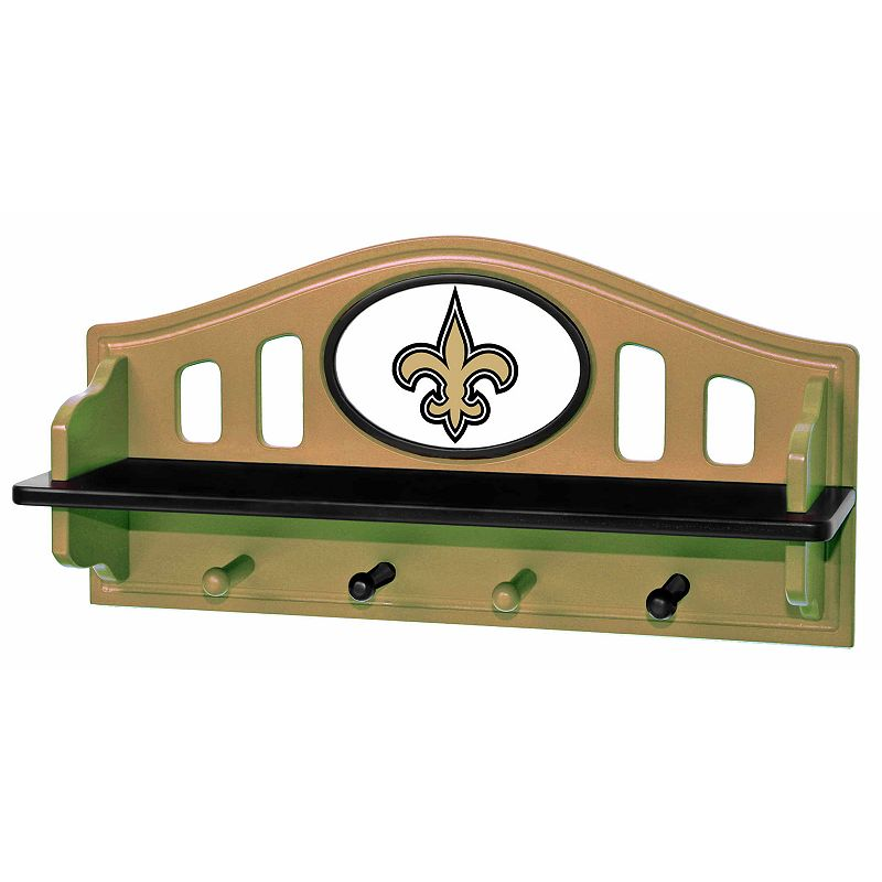 New Orleans Saints Wooden Shelf