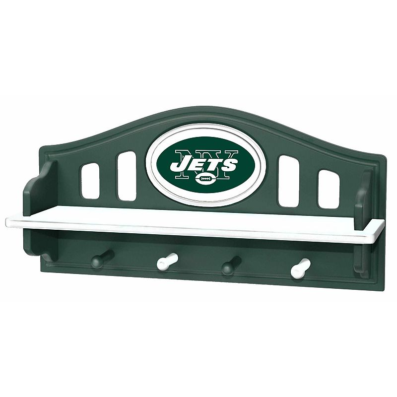 New York Jets Wooden Shelf