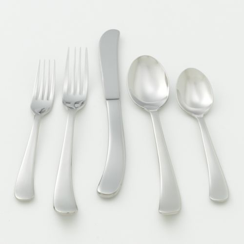 Ginkgo Sea Drift 18/10 Stainless Steel 20-pc. Flatware Set