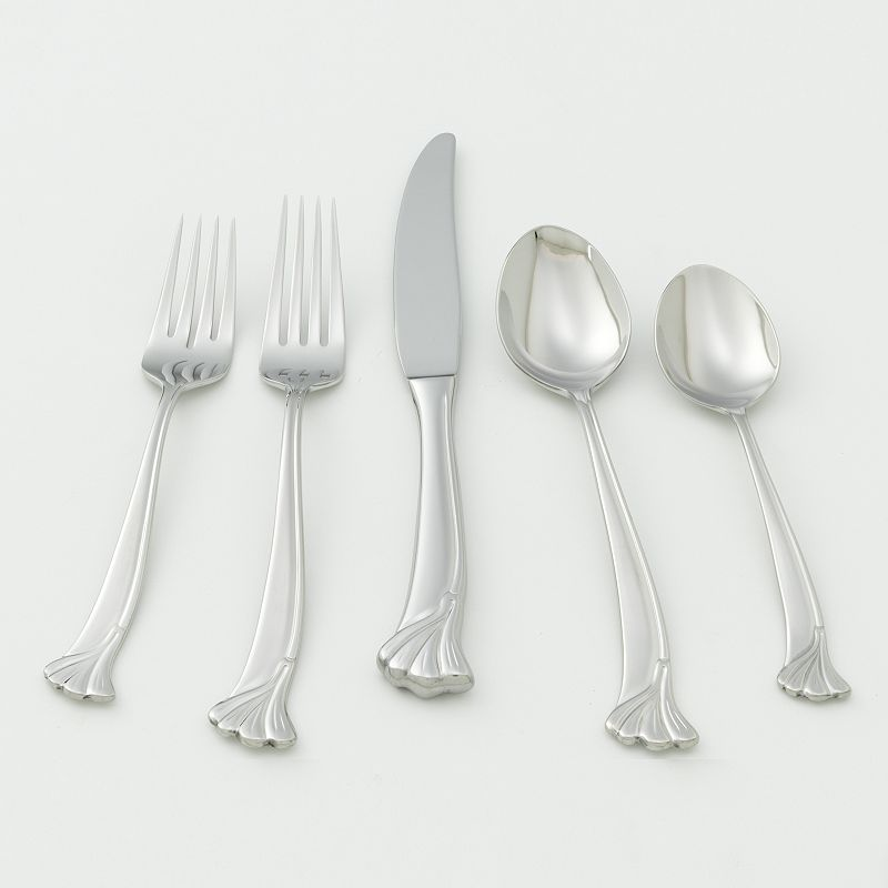 Ginkgo Leaf 18/10 Stainless Steel 20-pc. Flatware Set