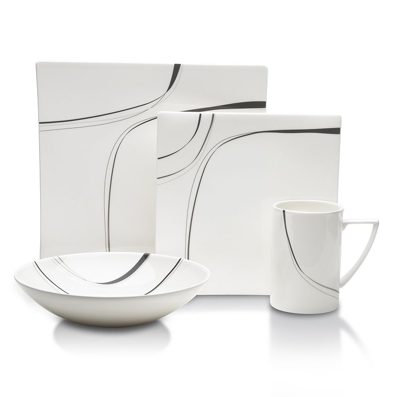 Mikasa Modernist Black 4-pc. Place Setting