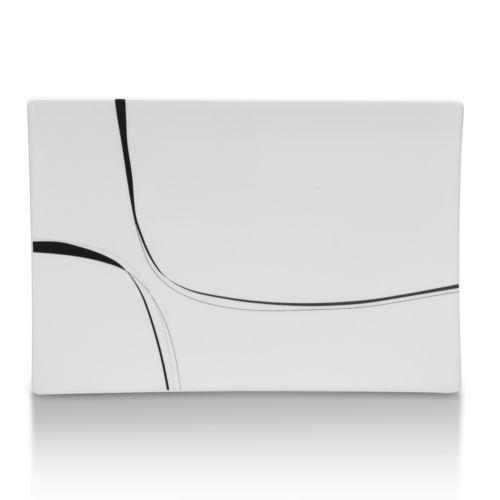 Mikasa Modernist Black Rectangular Platter