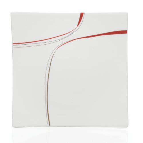 Mikasa Modernist Red Dinner Plate
