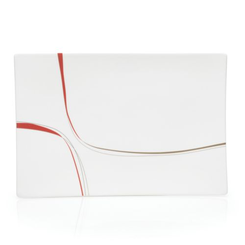 Mikasa Modernist Red Rectangular Platter