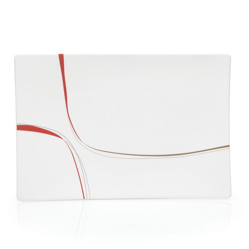 Mikasa Modernist Red Rectangular Platter