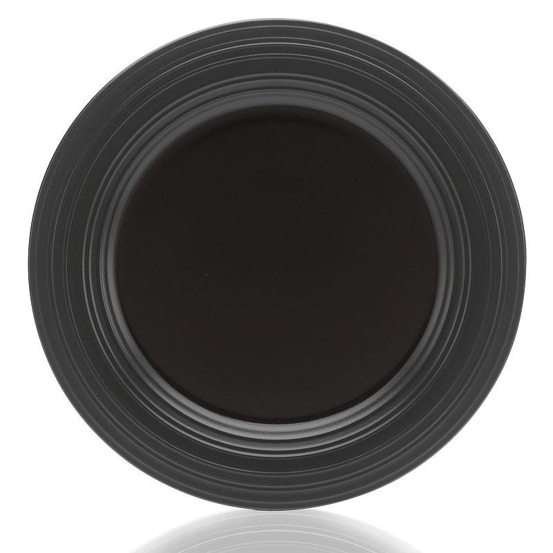 Mikasa Swirl Black Round Platter