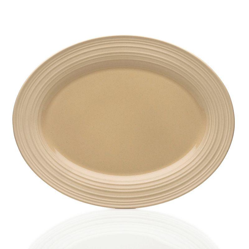 Mikasa Swirl Tan Oval Platter