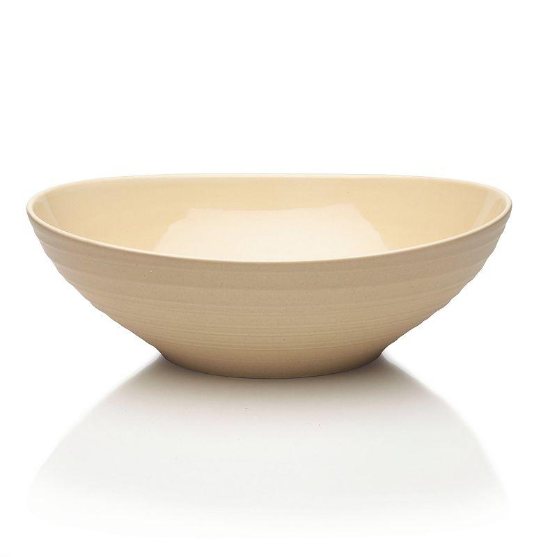 Mikasa Swirl Tan Oval Vegetable Bowl