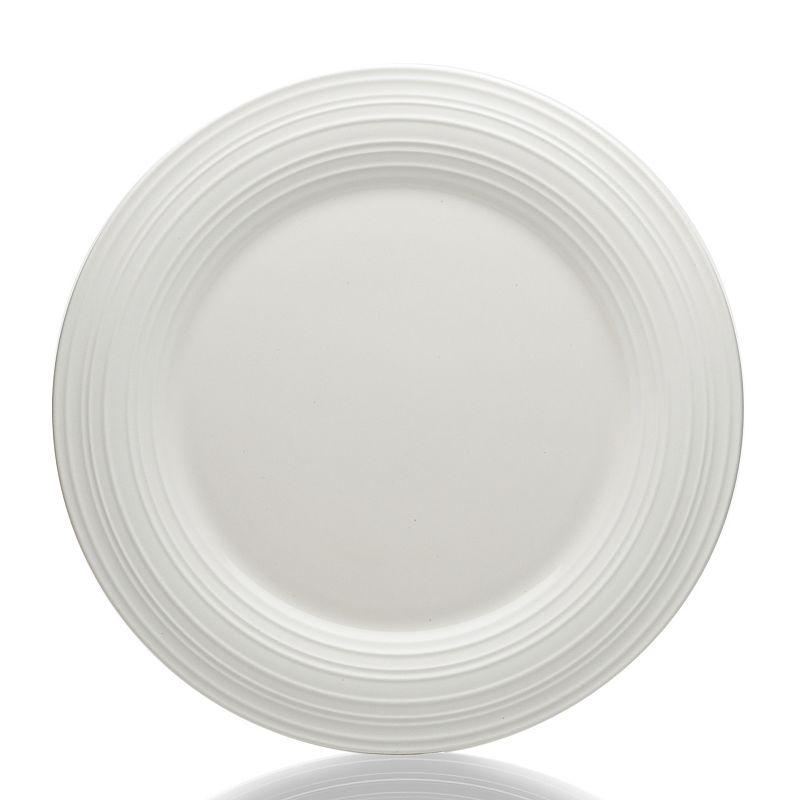Mikasa Swirl White Round Platter