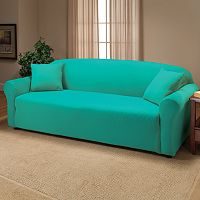 Jersey Stretch Sofa Slipcover With Pillow