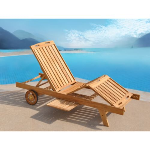 Teak Patio Lounger
