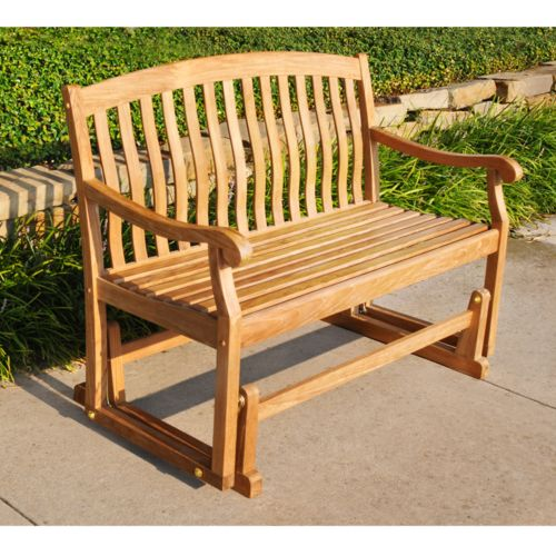 Teak Glider Patio Bench - Outdoor