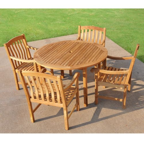 Teak 5-pc. Patio Dining Set