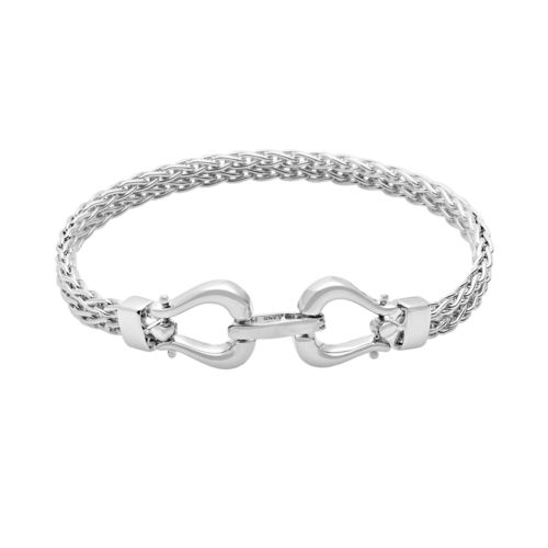 Sterling Silver Horseshoe Wheat Multistrand Bracelet