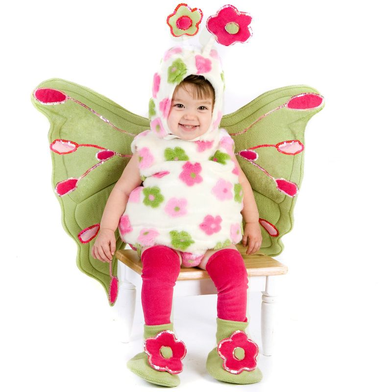 Butterfly Costume - Baby/Toddler (Pink/White/Green)