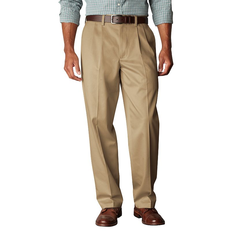 Men's Dockers® Signature Khaki D4 Relaxed-Fit Pleated Pants