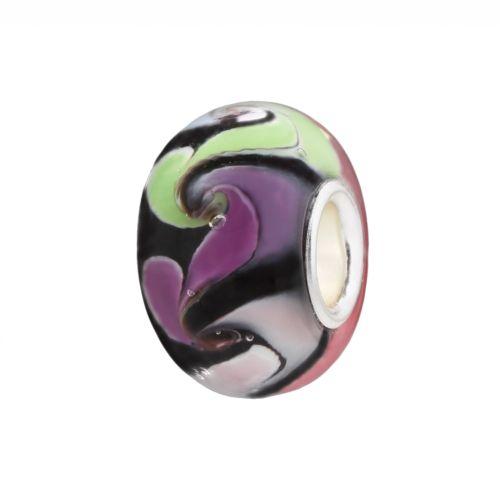 Individuality Beads Swirl Glass Bead