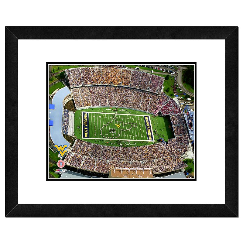 West Virginia Mountaineers Milan Puskar Stadium Framed Wall Art