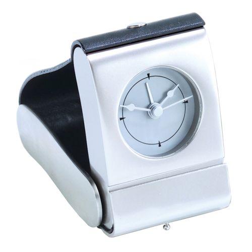 Matte Leather Folding Alarm Clock