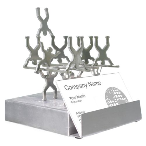 Stacked Figures Business Card Holder