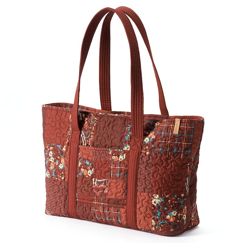 Donna Sharp Faith Quilted Patchwork Tote