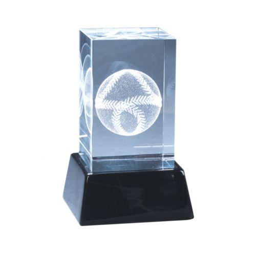 Crystal Baseball Sculpture