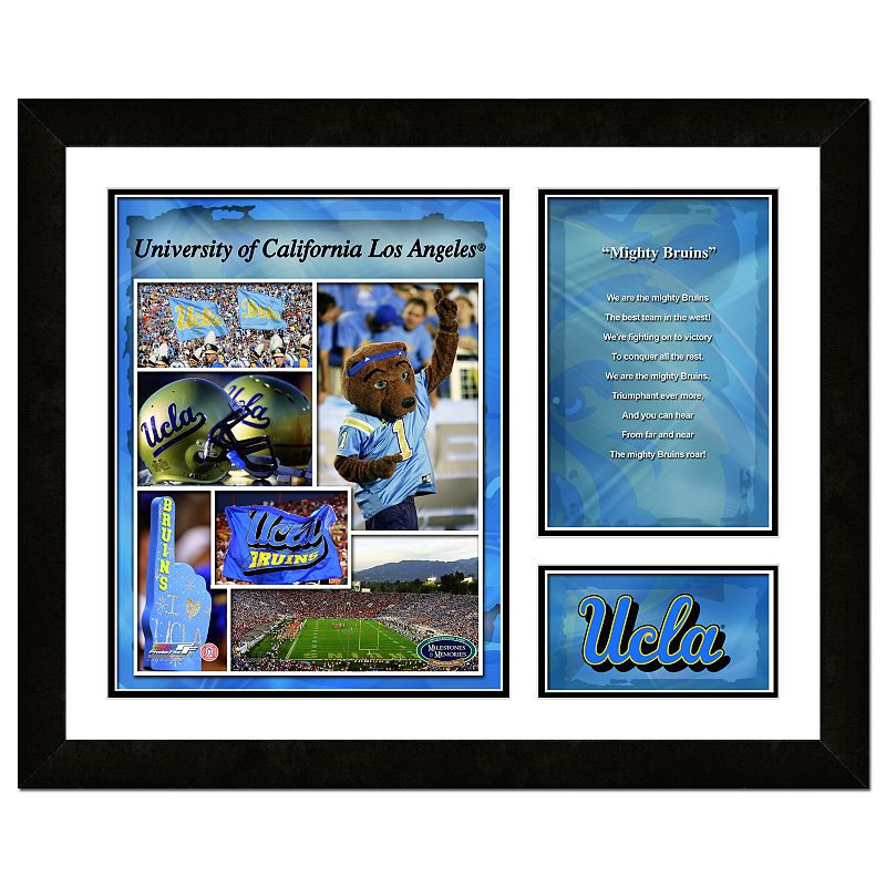 UCLA Bruins Milestones and Memories Fight Song Framed Wall Art