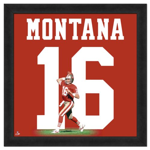 Joe Montana Framed Jersey Photo Wall Art