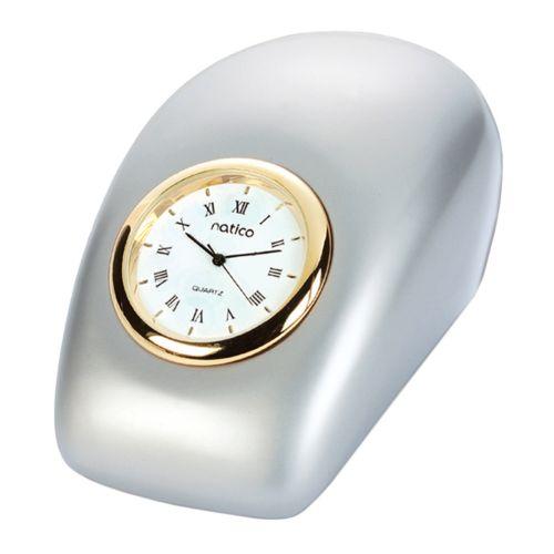 Pearl Silver Tron Desk Clock