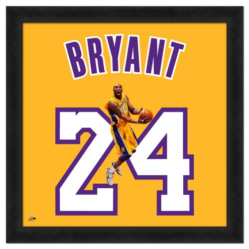 Kobe Bryant Framed Jersey Photo