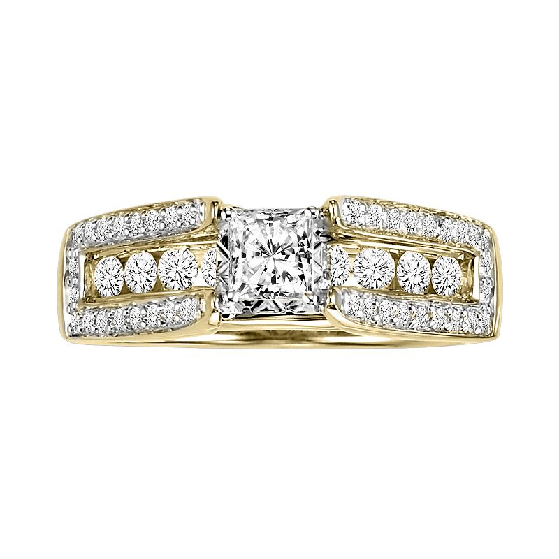 Cherish Always Princess-Cut Diamond Engagement Ring in 10k Gold (1 ct. T.W.)