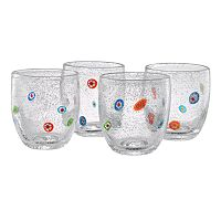 Artland Fiore 4-pc. Double Old-Fashioned Glass Set