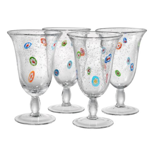 Artland Fiore 4-pc. Footed Glass Set