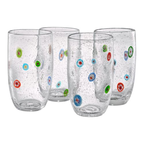 Artland Fiore 4-pc. Highball Glass Set