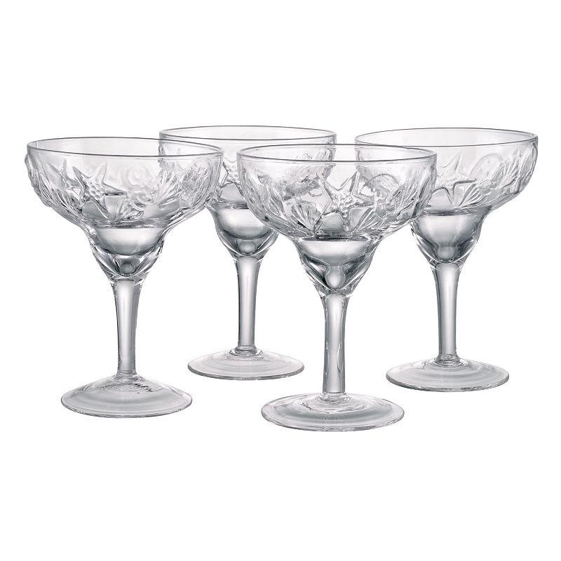 Artland Shells 4-pc. Maragarita Glass Set