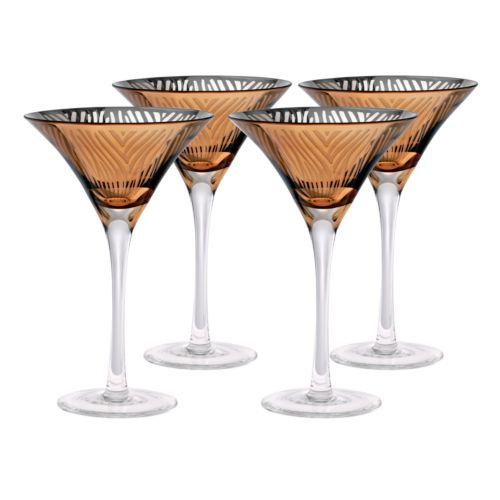 Artland Zebra 4-pc. Martini Glass Set