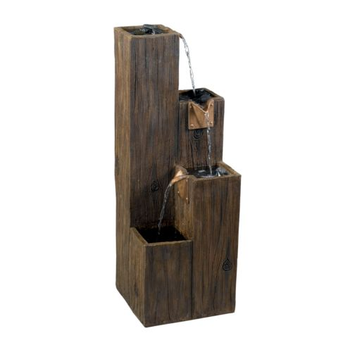 Timber Indoor or Outdoor Floor Fountain