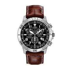 Citizen Eco-Drive Men's Perpetual Calendar Leather Chronograph Watch BL5250-02L