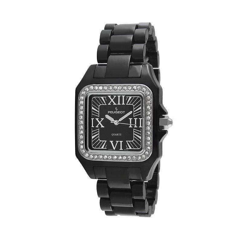 Peugeot Women's Ceramic Crystal Watch - PS4897BK