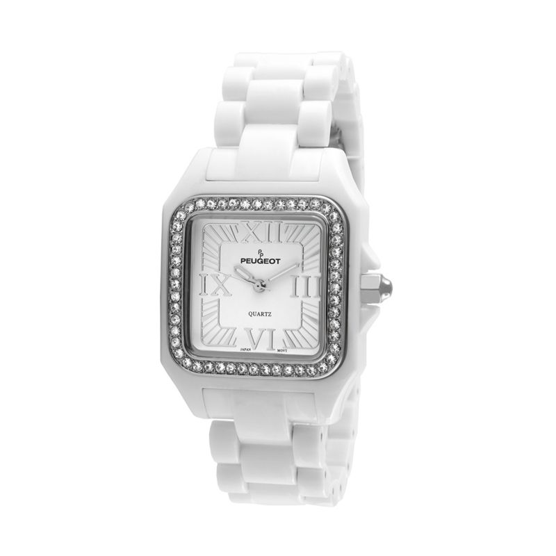 Peugeot Women's Ceramic Crystal Watch - PS4897WT, White thumbnail